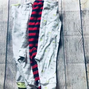 Other - set of 4 baby boy size 6m footed pajamas